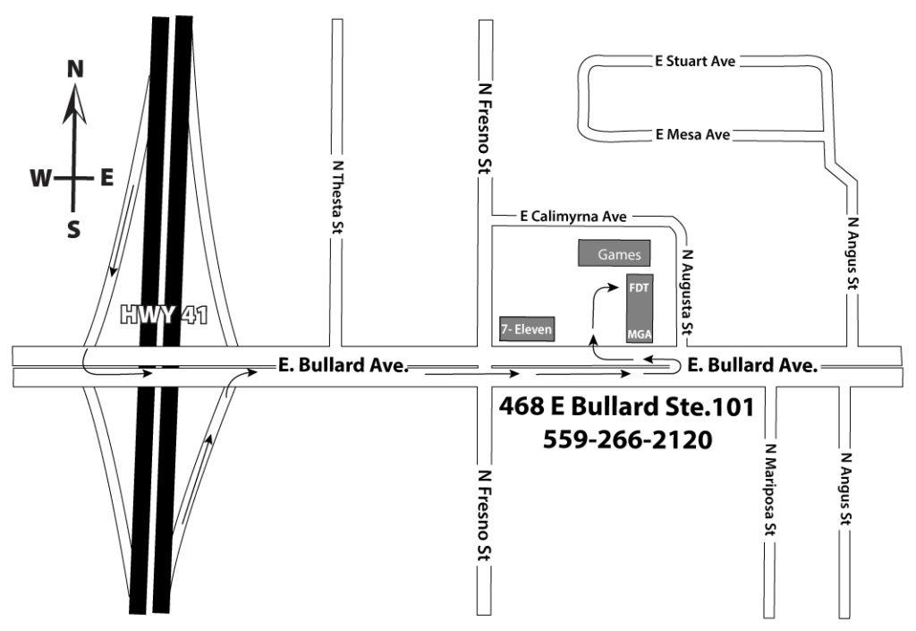 Fresno Drug Testing Office Map 468 E Bullard Ste.101